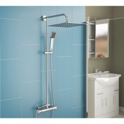 Get 38% discount on Slimline Square Twin Head Thermostatic Shower Mixe