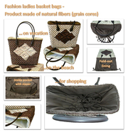 WOMEN BASKET BAGS - MADE OF NATURAL FIBERS